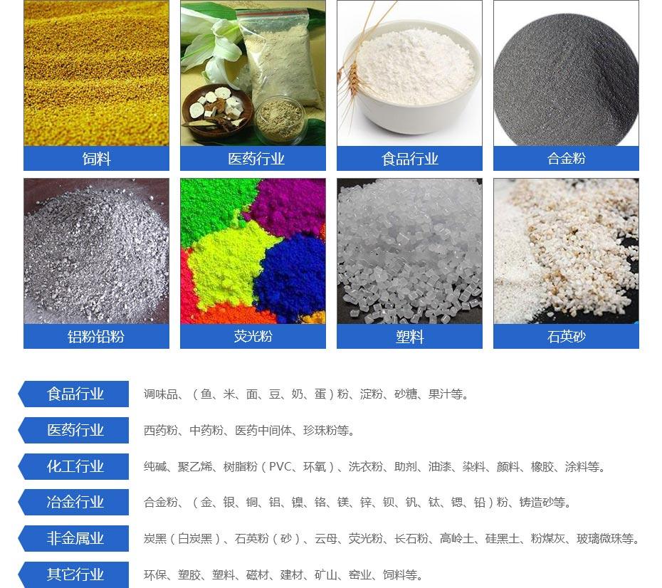 福泽产品应用领域--氣流篩